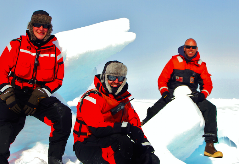 Coast Guard ice rescue